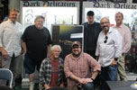 House signing - back row: Jonathan Stark, George Wendt, Ethan Wiley, Me, Fred Dekker front: William Katt, Chad Frye